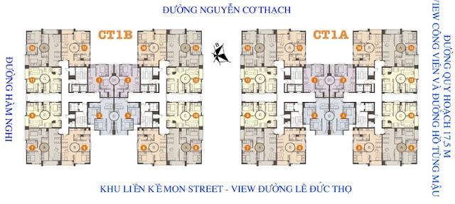Mặt bằng quy mô căn hộ chung cư HD Mon City – Mỹ Đình