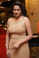 Actress Himaja Stills in Golden Spicy Long Dress at SIIMA Short Film Awards 2017 .COM 0287.JPG