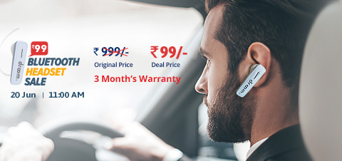 Get :- Droom Bluetooth Headset At ₹99
