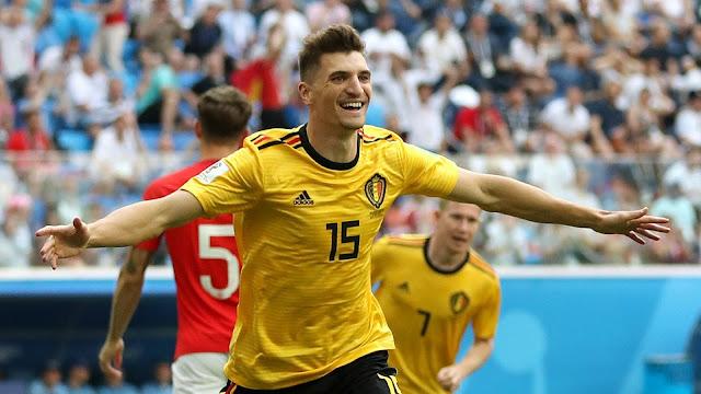 穆尼耶闪击阿扎尔破门 比利时2-0英格兰创历史最佳战绩
