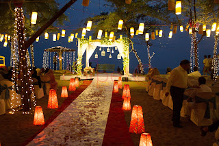 pathway aisle decor for beach wedding kerala