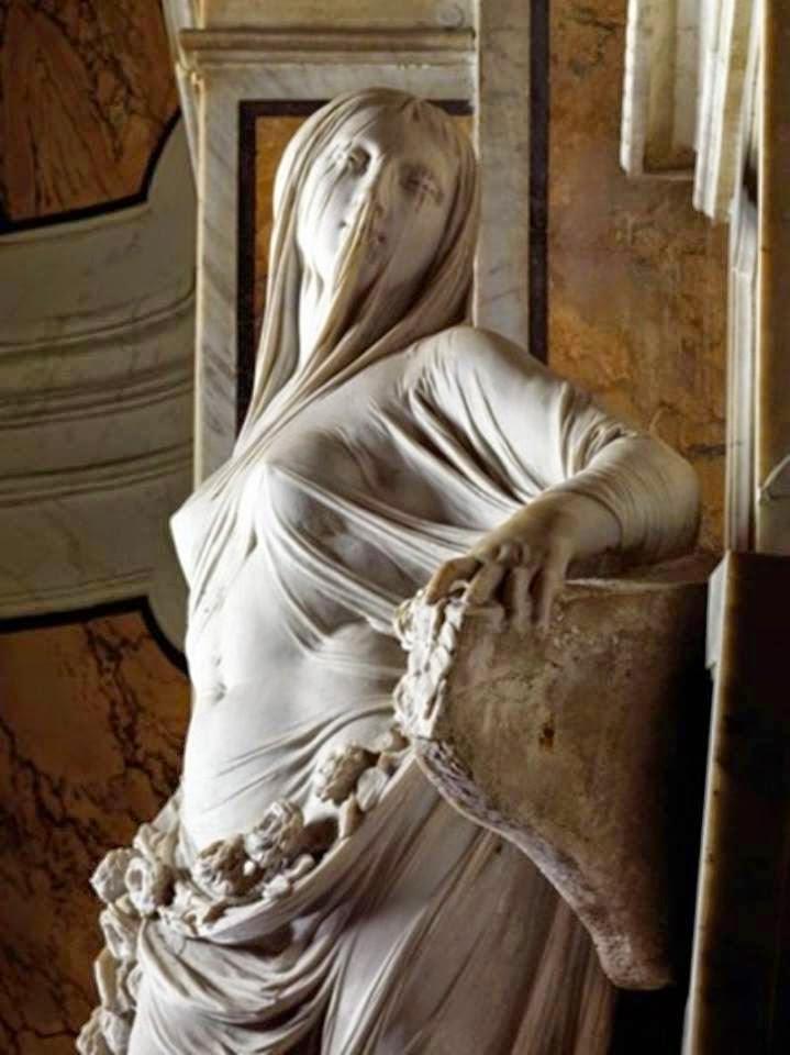 Violetas velos y pliegues maravillosas esculturas en marmol for Marmol traslucido