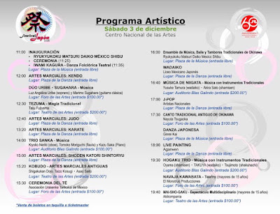 programa actividades festival japón