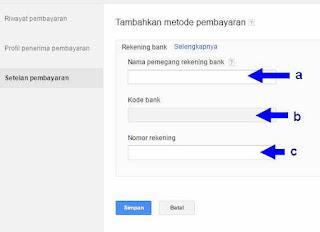 setting pembayaran akun IDR