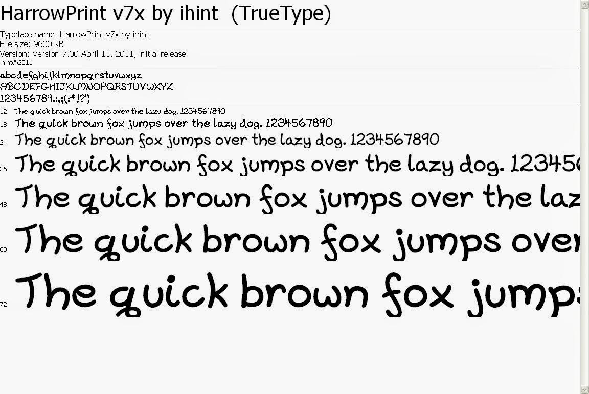 ratusan font keren buat hape symbian s60v3