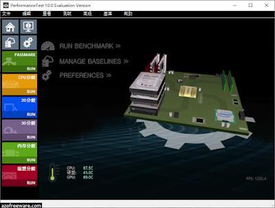 PassMark PerformanceTest 10.0.1007 中文版 - 電腦效能評測軟體 - 阿榮福利味 - 免費軟體下載