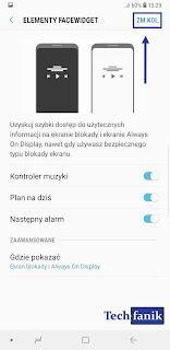 s9+ kolejność elementów FaceWidget