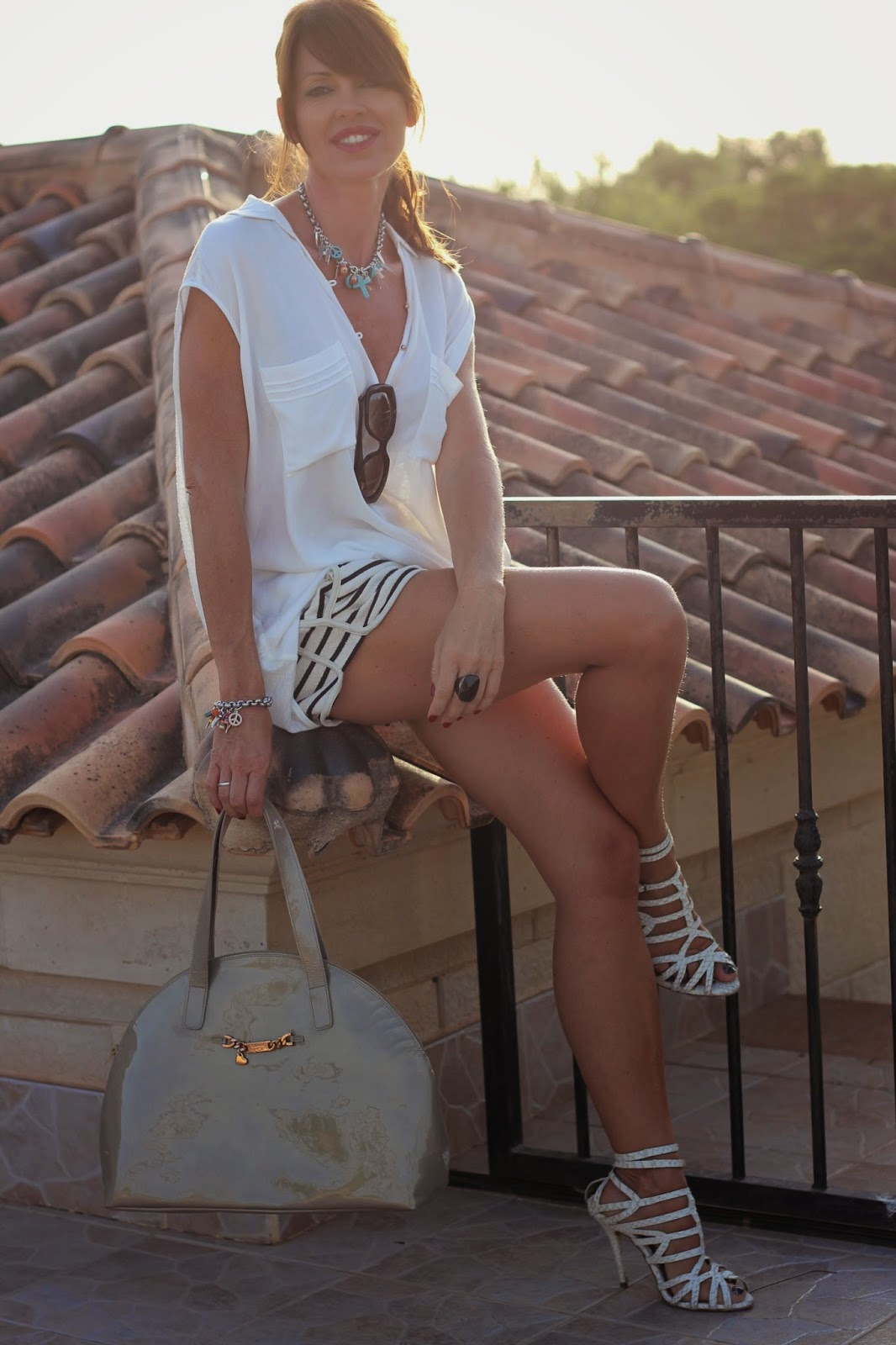 White look - Sandalias Zara - blogger Alicante