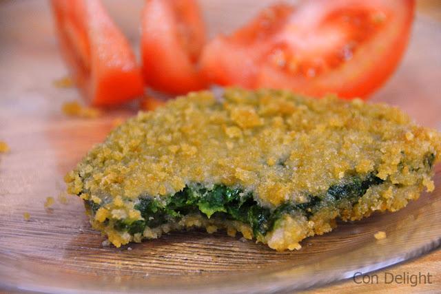 שניצל תרד spinach schnitzel vegan