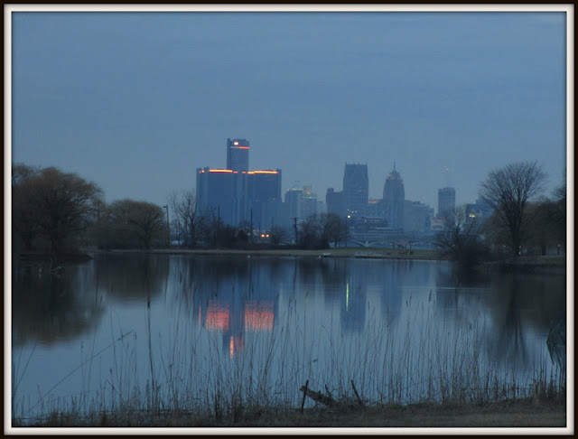 View of the Renaissance Center from Belle Isle Detroit Ren Cen