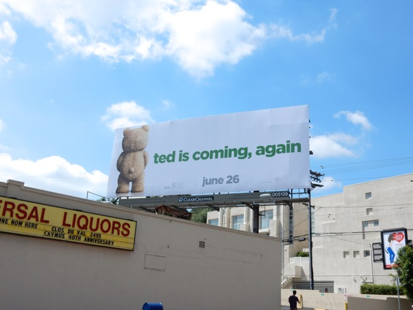 Ted 2 movie teaser billboard