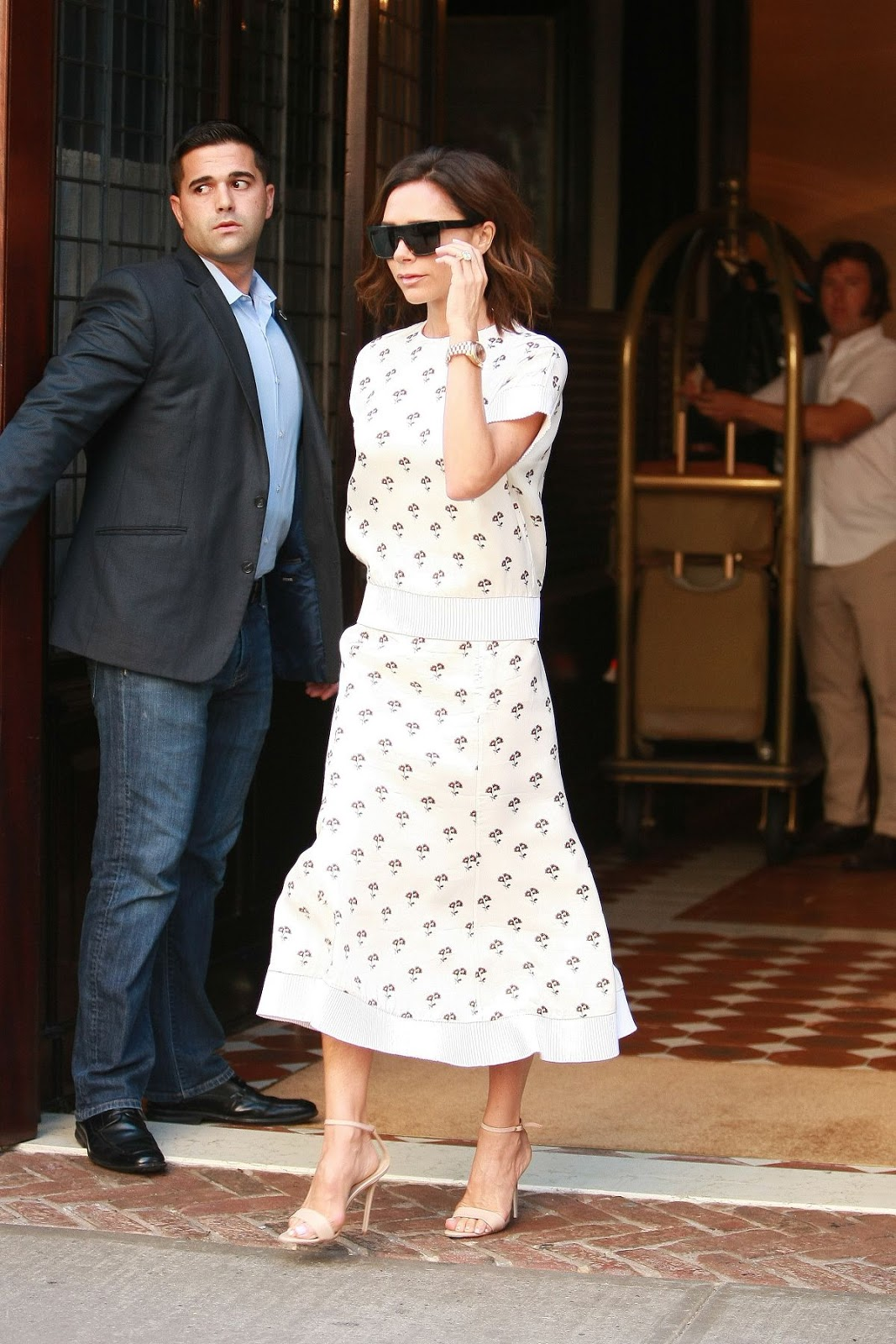Victoria Beckham Leaves Her Hotel in NYC