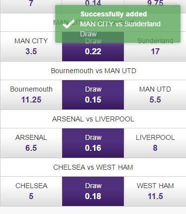 Step 12 - Make selections - Quick Selection Soccer Betting - Hollywoodbets Mobile
