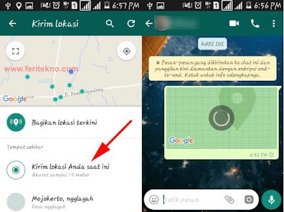 Cara Mengirim Lokasi Saat Ini Kita Berada di WhatsApp 3