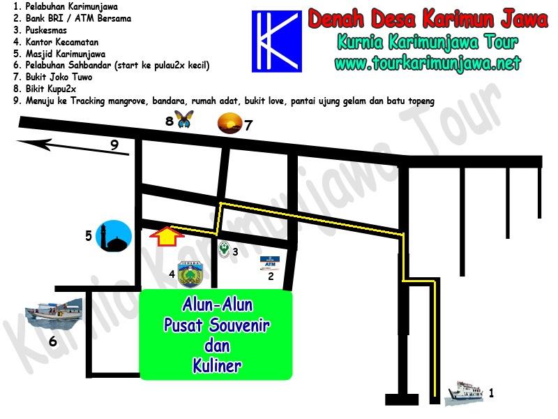 Lokasi Alamat Kurnia Karimunjawa Tour And Travel Paket Tour