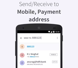 Custom Payment App - BHIM Screenshot