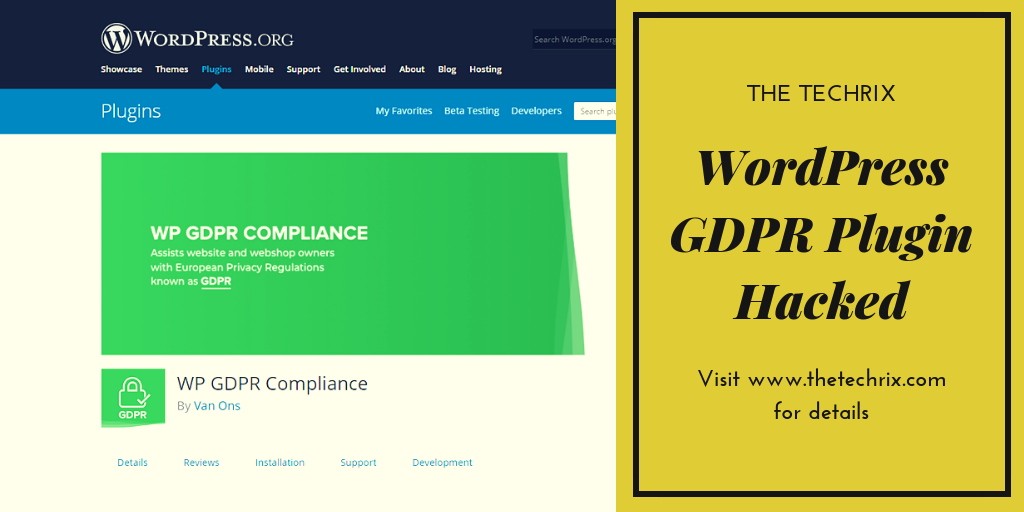 WordPress GDPR Plugin Hacked - Learn How to Protect your Website