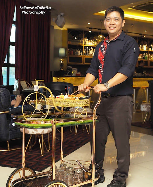 Courteous & Friendly Wait Staff, Mr Richard With Our Hi-Tea Set