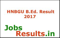HNBGU B.Ed. Result 2017