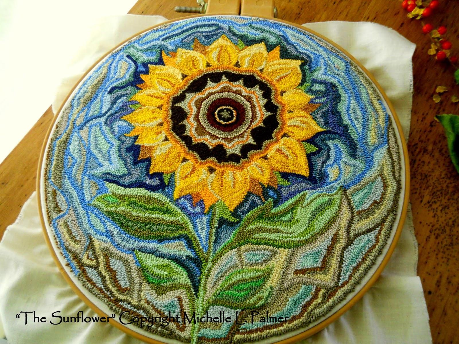 Sunflower Rug Hooking Pattern Area Ideas