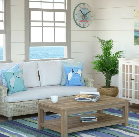 Blue Green Rug Beach Decor Part 89