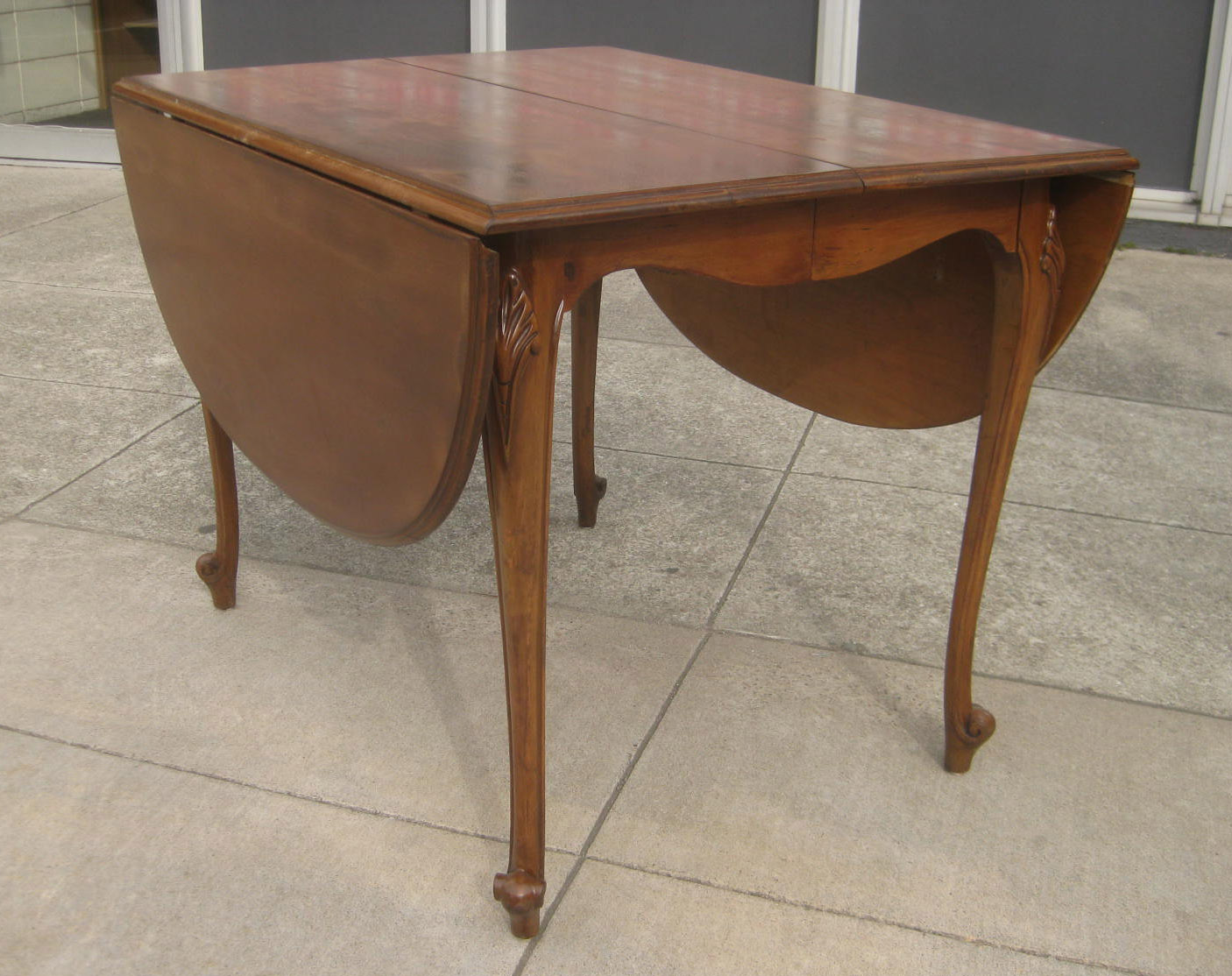 Sold Solid Wood Drop Leaf Table 100