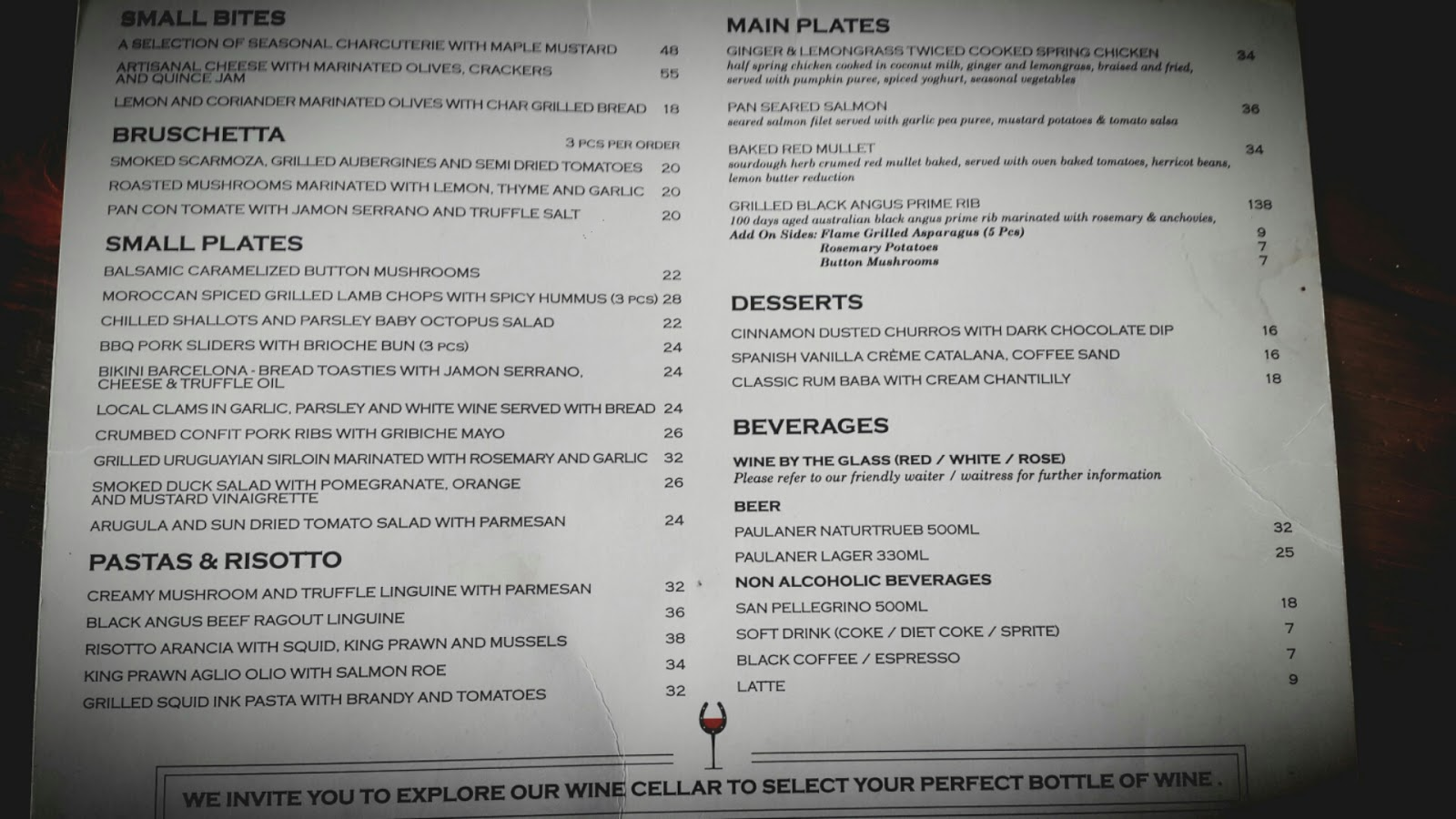 Georgetown wines penang wino abroad for Floor 6 reloaded menu