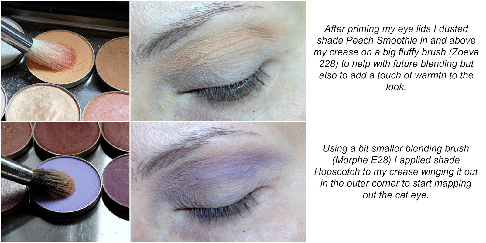 purple smokey eyes tutorial using Makeup Geek eyeshadows