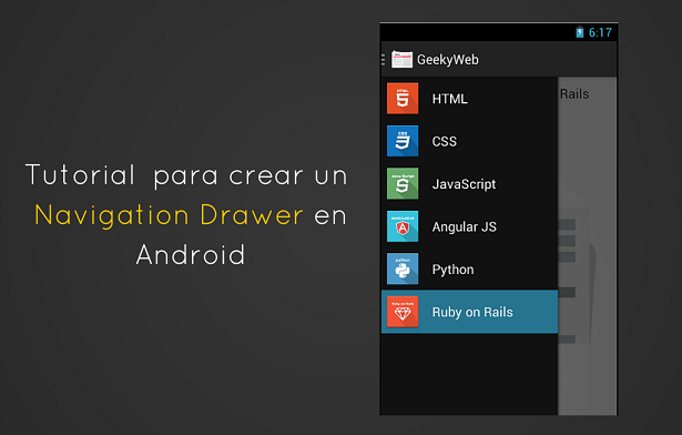 Usar un DrawerLayout para crear un Navigation Drawer en Android