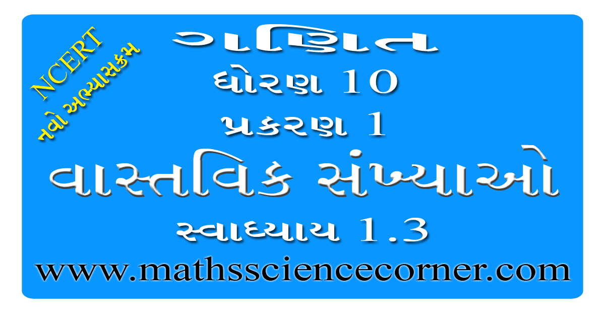 Maths Std 10 Swadhyay 1.3