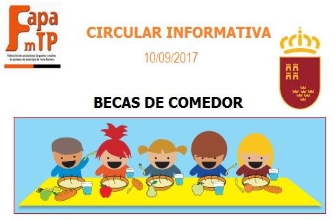 Blog de FAPAmTP: BECAS DE COMEDOR 2017/2018
