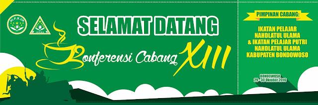 Desain Selamat Datang II - Konferensi Cabang XIII IPNU & IPPNU Kabupaten Bondowoso