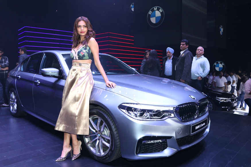 Esha Gupta and Vikram Pawah at The Launch of BMW 5 Series In Mumbai