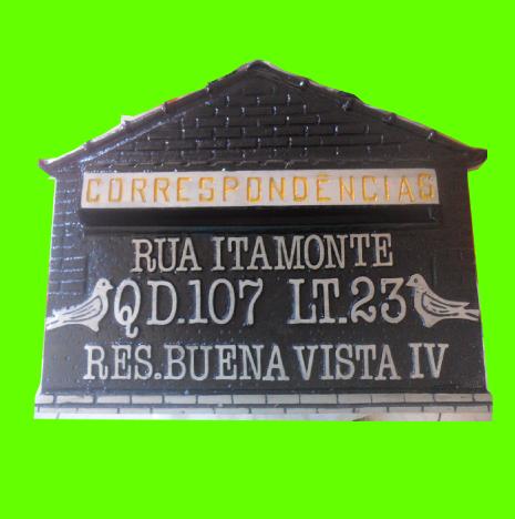 cebd56a97447 Caixa Grande Tijololinho modelo casinha com Endereço.