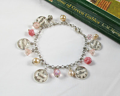 pink charm bracelet anne of green gables two cheeky monkeys