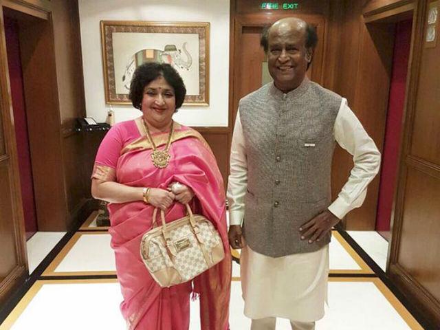 Rajinikanth latha celebrates wedding anniversary with fans