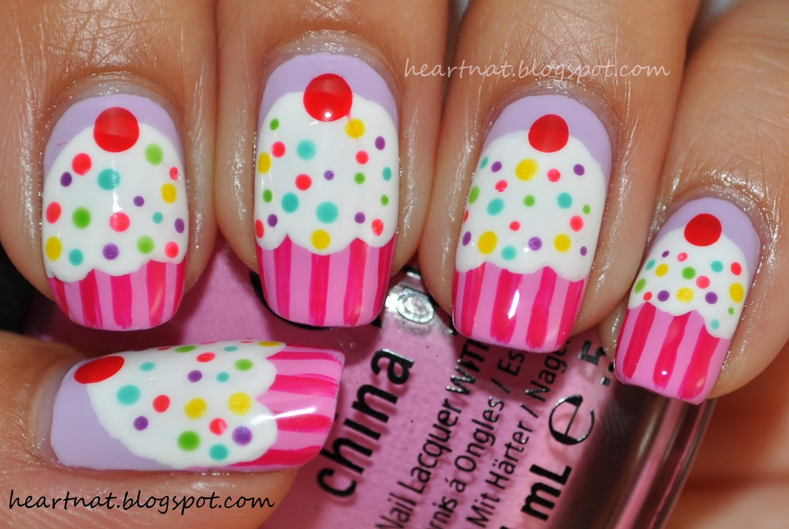 heartnat: China Glaze Electropop Cupcake Nails