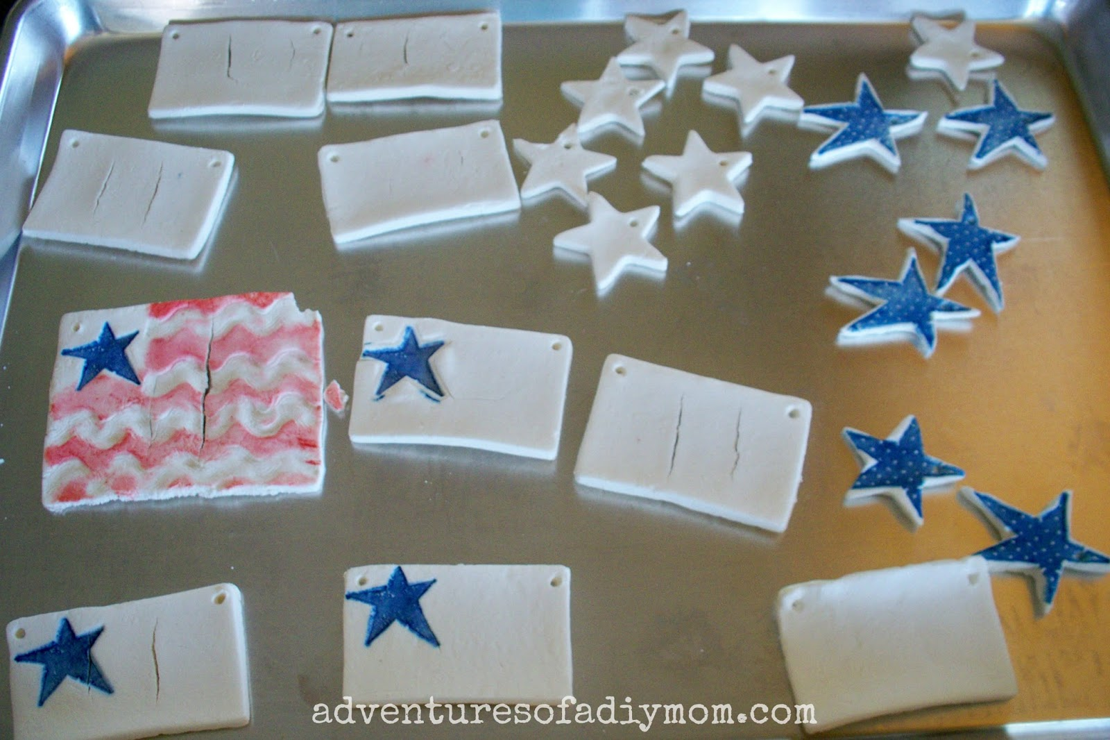 4th Of July Flag Tree with Cornstarch Ornaments