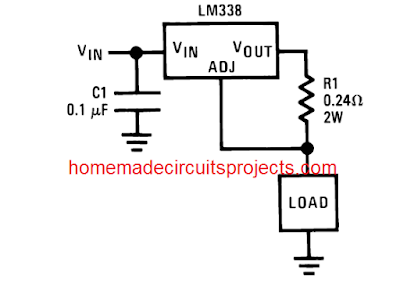how to add current control with LM338 IC