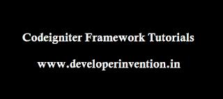 Codeigniter Frameworks