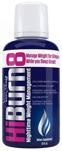 HiBurn8 Night Weight Loss Drink with ingredients that help with sleep, infammation, weight loss, stress and more!