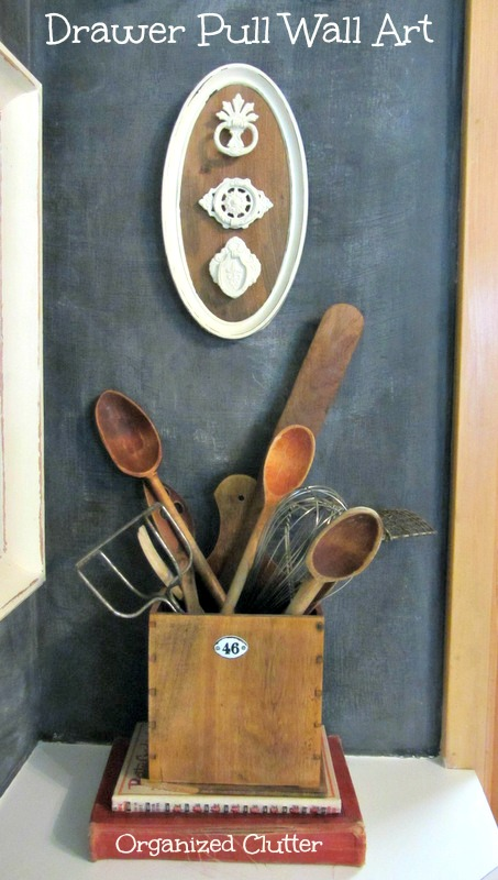 Displaying Old Drawer Pulls As Wall Art www.organizedclutterqueen.blogspot.com