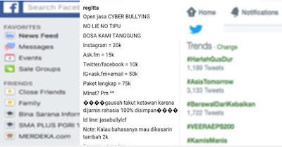 jasa bullying sosmed