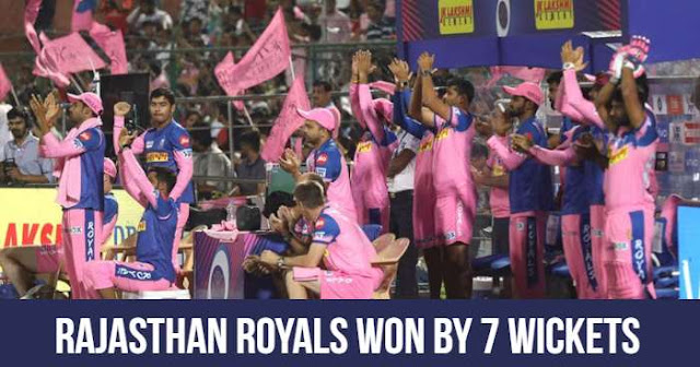 Rajasthan Royals won by 7 Wickets