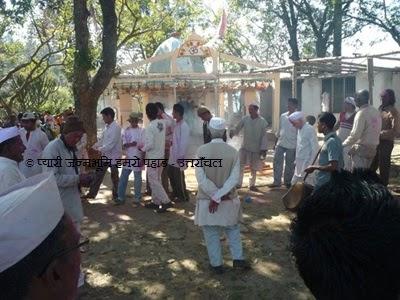 Holi in Village Temple Tunta