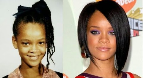 rihanna shares childhood pictures naijagistsblog nigeria