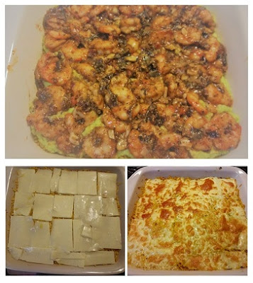 Process to make Rice Lasagna with Shrimps and Mashed Avocados (Paleo, Gluten-Free).jpg