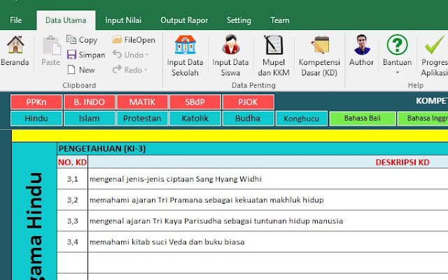 Aplikasi Penilaian dan Raport Kurikulum 2013 SD Revisi 2017