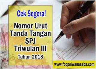 Kabar Gembira.! Nomor Urut Tanda Tangan TPG Triwulan III Tahun 2018 sudah keluar
