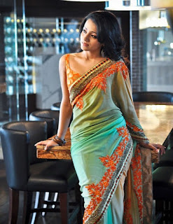 TRISHA BLUE SHADED SAREE